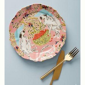 Anthropologie Monkey Plate-NIB-Eastern Animal Set